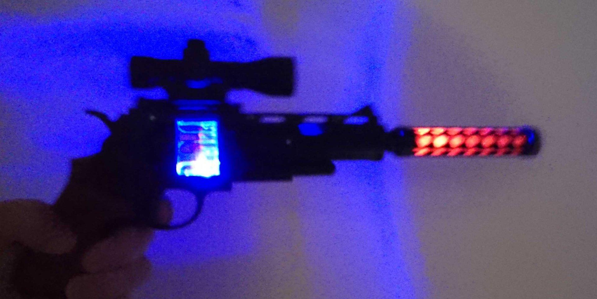 Led Laser Light Revolver Pistol Light And Sound Effects