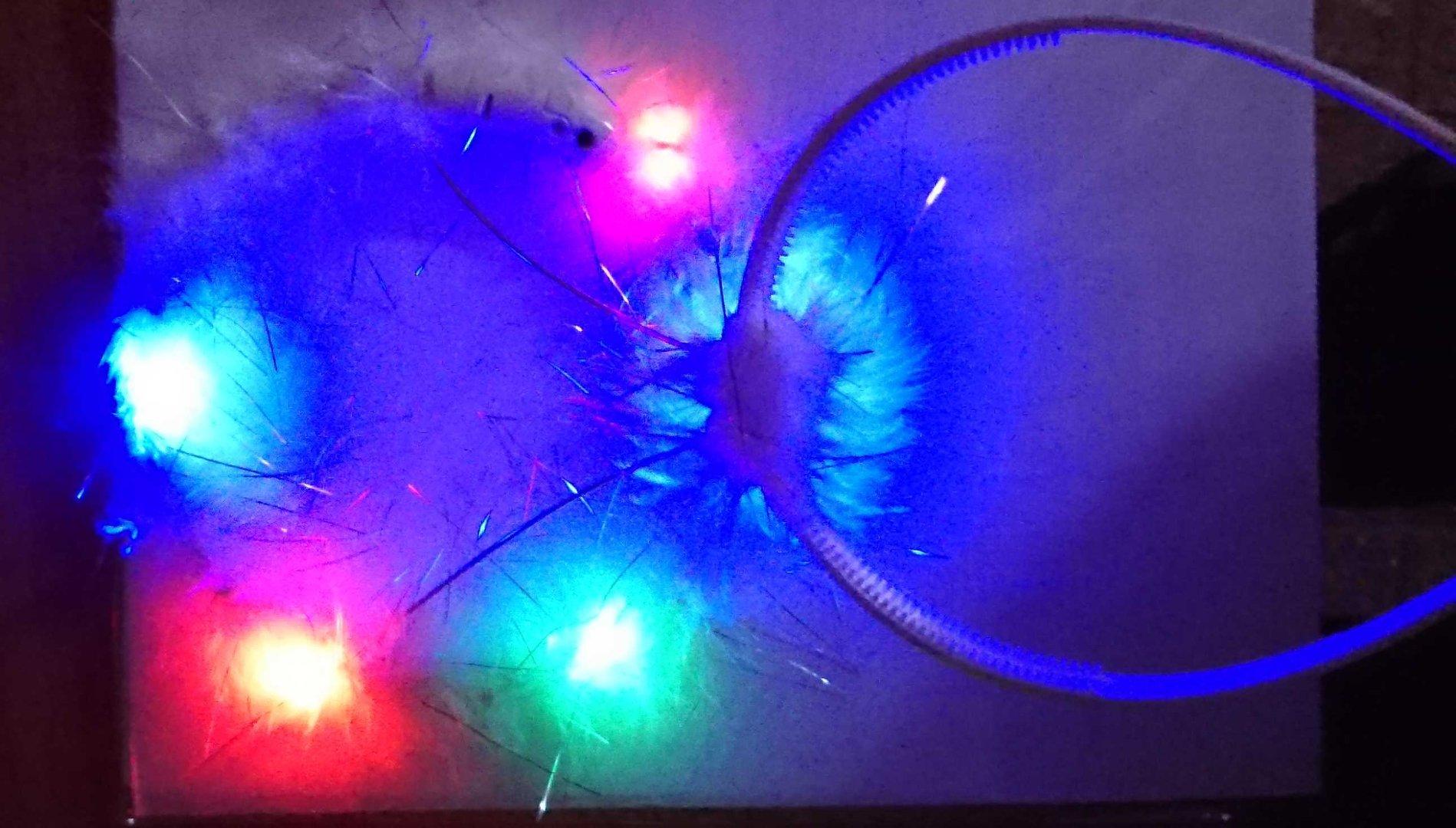 Headband Luminous Flashing Led White Angel Halo Plush Glow