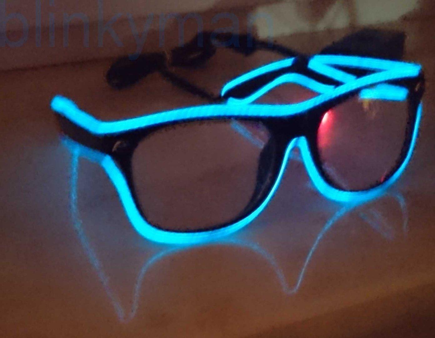 neu 2018 el wire sunglasses gruen sonnenbrille wave effekt ray. Black Bedroom Furniture Sets. Home Design Ideas