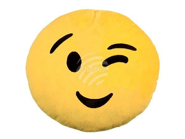 Emoji Pillow emoticon smiley cushion Emoji Con 30 cm diameter NEW