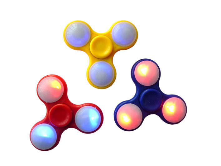 Spiele Spinner Weiß mit Lichter beim drehen