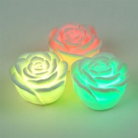 LED Kerze Blinkende Farbwechsel multi color LED Rose Seerose Batterie