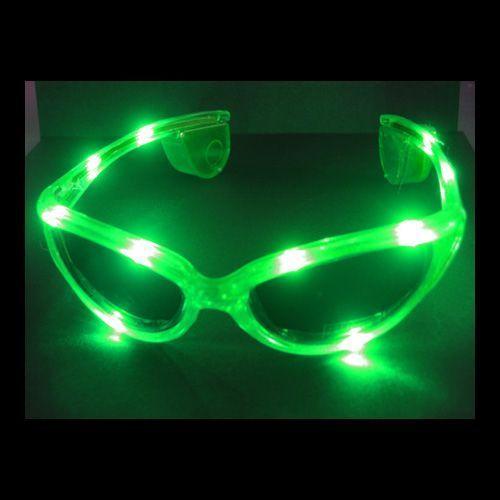 CT Leuchtbrille LED GRÜN LEUCHT BRILLE CRAZY GLASSES Licht Blinkbrille