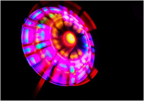 LED ROTOR WIND MUEHLE PROPELLER GROSS XXL 36cm Funny Windmill multicolor