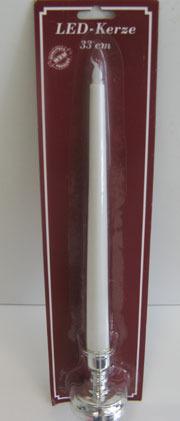 Stork 31 cm Kerze mit Batterie LED Kerzenlicht flackernd