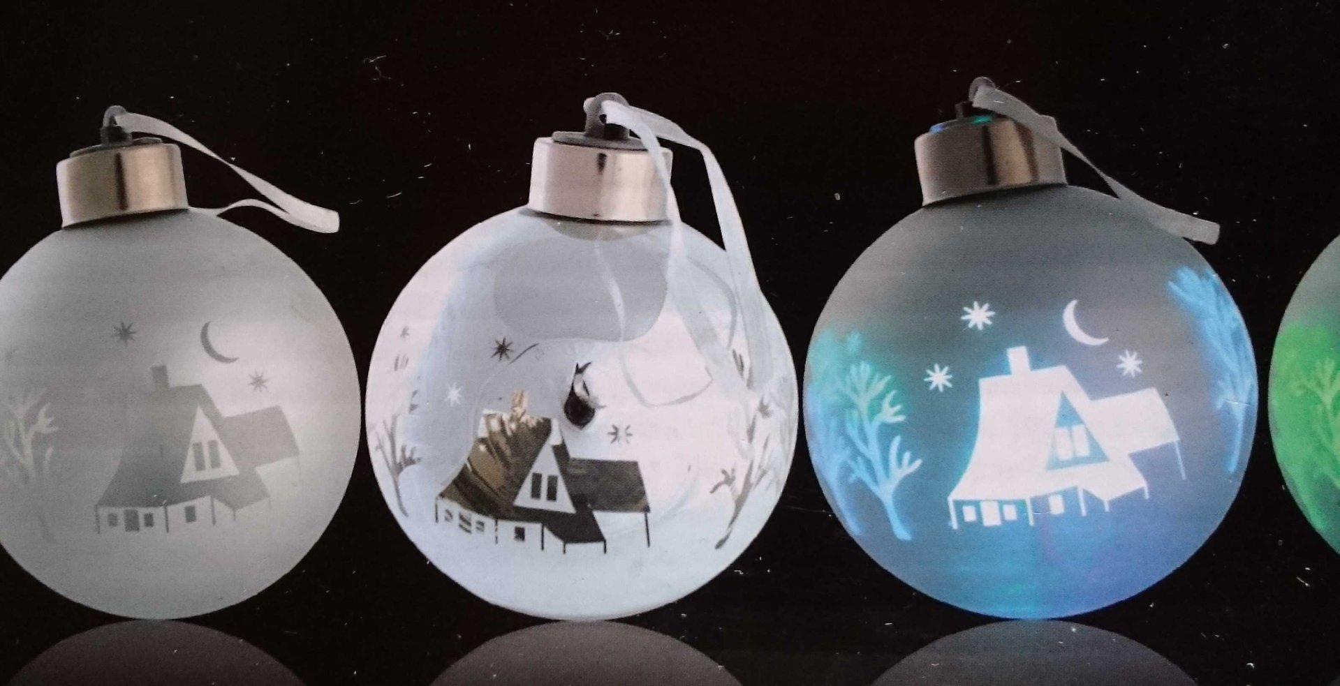 LED GLAS Weihnachts KUGEL Dekokugel leuchtet multicolor FARBWECHE
