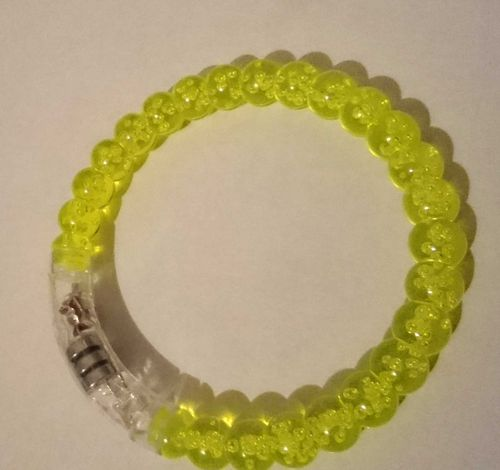 LED LEUCHT ARMBAND flashing bracelet Blinkender Armreifen Arm