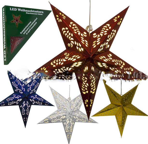 led weihnachts stern christmas star papier stern 220 v rot bl. Black Bedroom Furniture Sets. Home Design Ideas