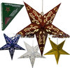 LED - WEIHNACHTS STERN CHRISTMAS STAR PAPIER STERN 220 V ROT / BLAU / SILBER / GOLD