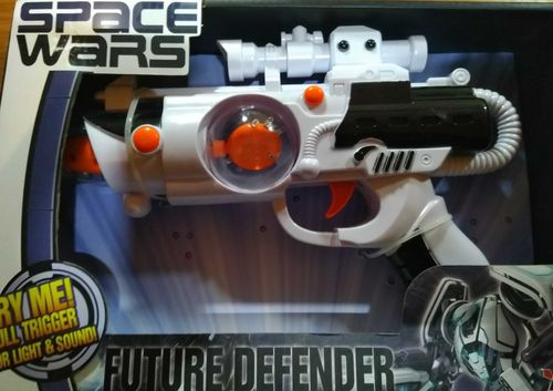Space Wars LED Pistole Laser Gun Licht Sound Effekten LASER Light Twister Fire