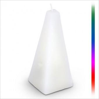 relaxdays stolz 12cm LED WACHS Kerze mit Farbwechsel Batterie Zylinder Pyramide.