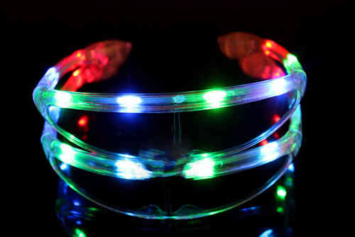 NEU 2017 Party Brille MULTI LED Disco SPACE brille Partybrille MULTICOLOR xmen