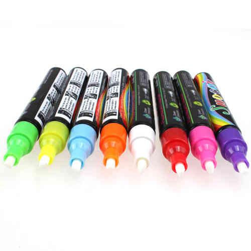 CT 8 STIFTE NEON Stifte Fluoreszierende Marker für LED Leuchttafel Werbetafel