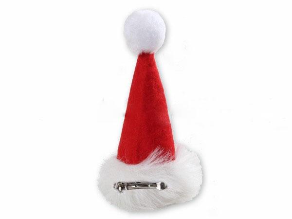 weihnachtsm tze hut m haarspange zum aufstecken weihnachts m tze. Black Bedroom Furniture Sets. Home Design Ideas