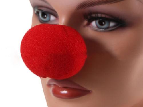 Schaumstoff Clownnase Clown Nase Rot Red NOSE Fasching Karneval rote nasen