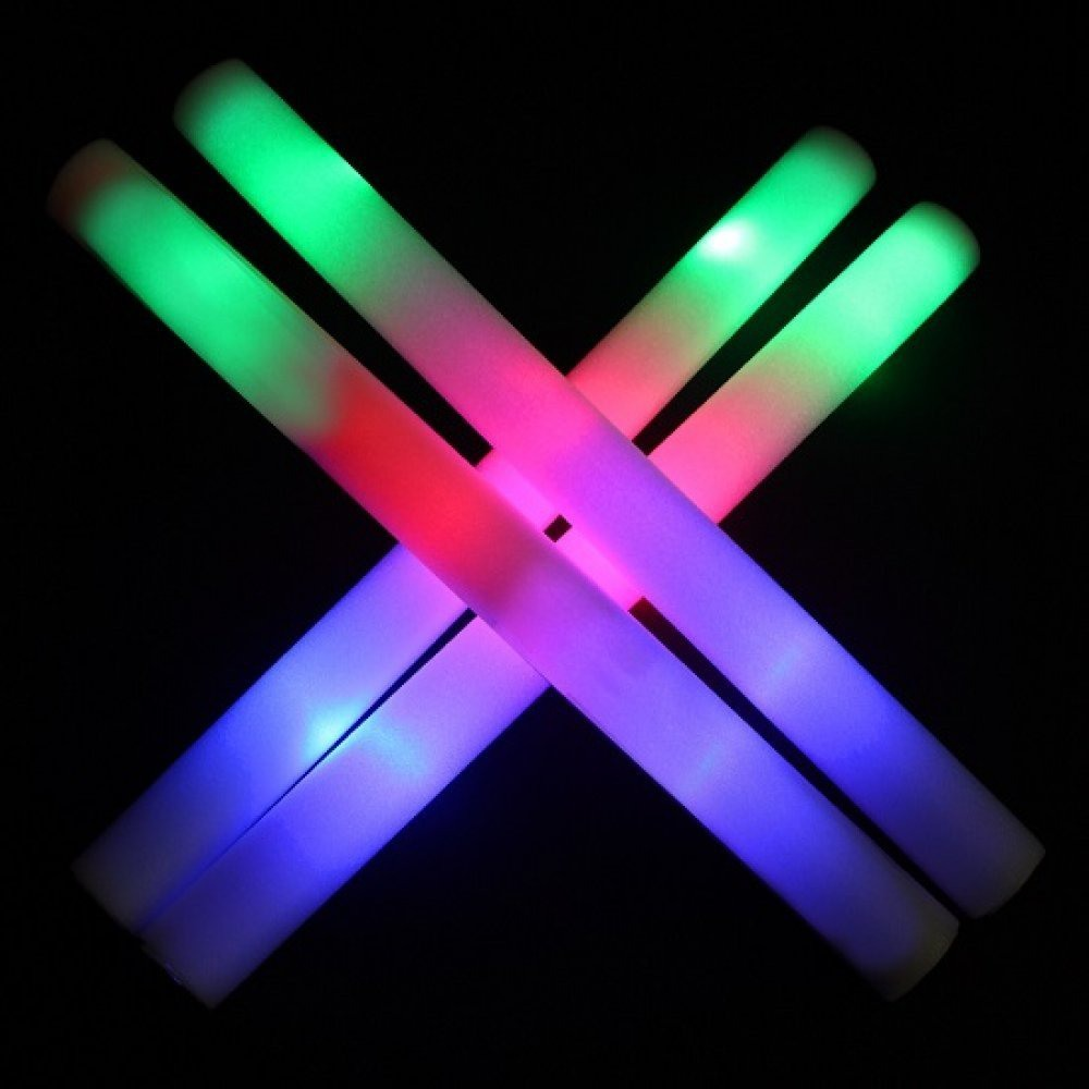 LED Leuchtstab Schaumstoffstab Stab Schaumstoff LÄNGE 50cm