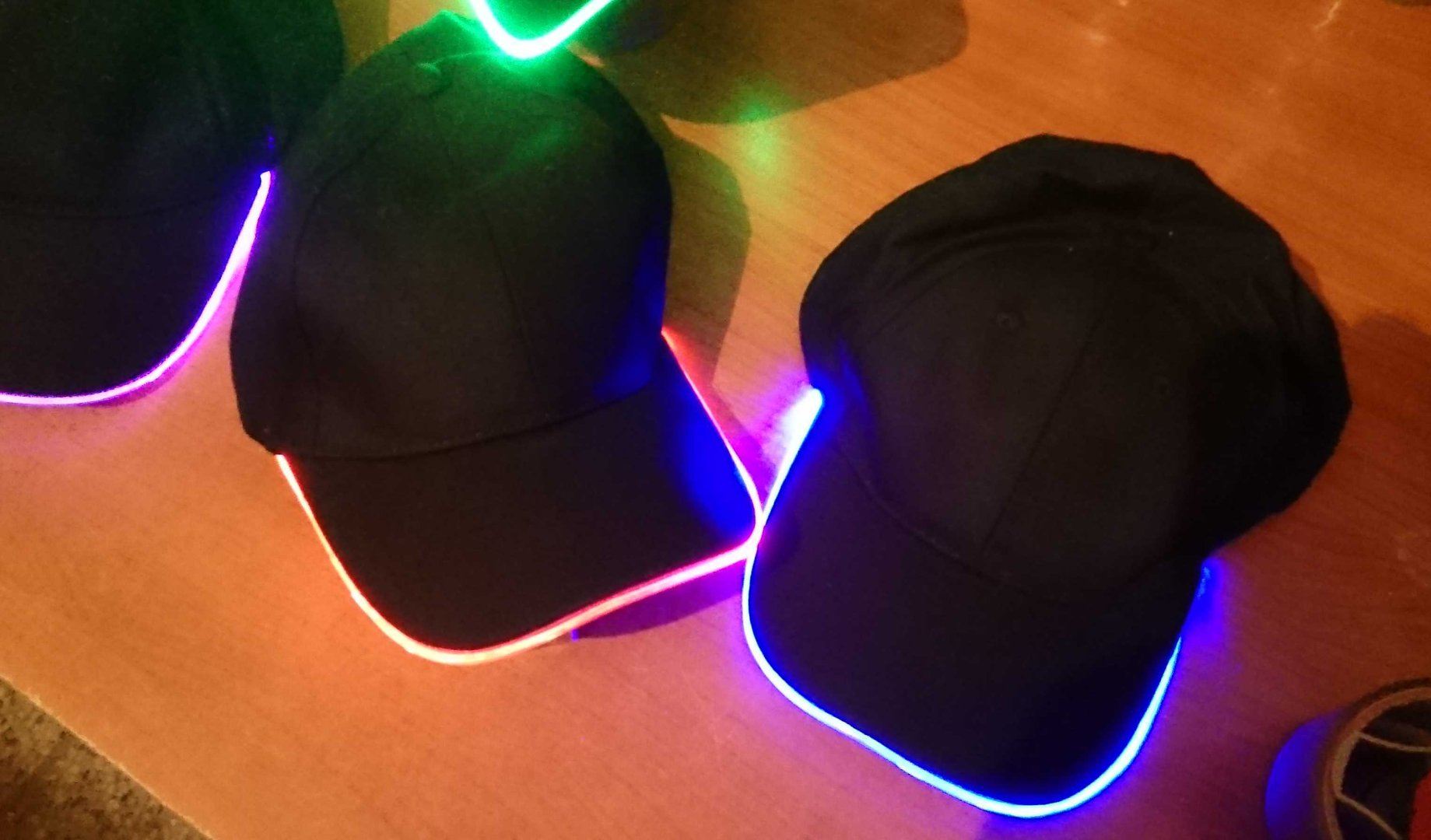 Led Light Cap Light Flashing Cap Blink Green Yellow Red