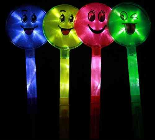 FEENSTAB LED Blinkstab Smiley LED STAB mit Funny Face LÄNGE 40 cm smily