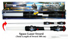 LED LASER SCHWERT Space Lacer LIGHT SWORD 108 cm mit Licht  Sound