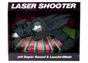 LED Pistole Laser Space Gun mit Licht und Sound Effekten Light Wonder Music
