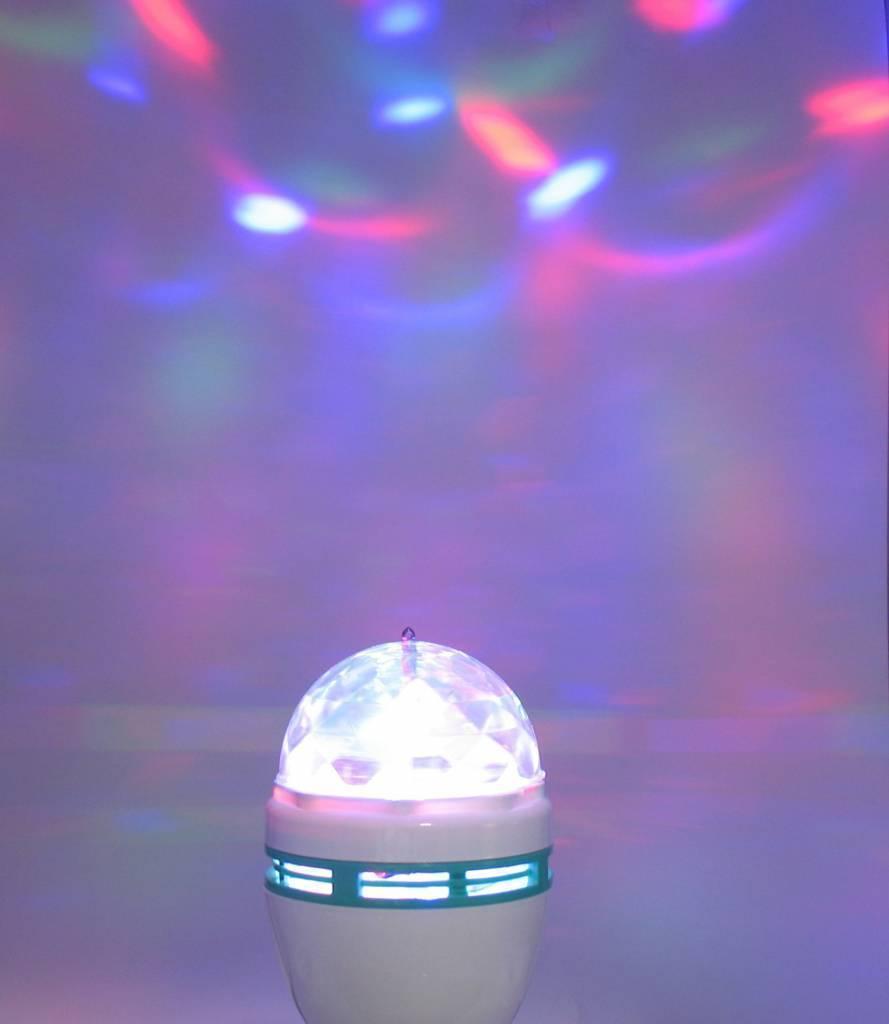 led multi color rgb led lampe e27 rotation 3 watt. Black Bedroom Furniture Sets. Home Design Ideas