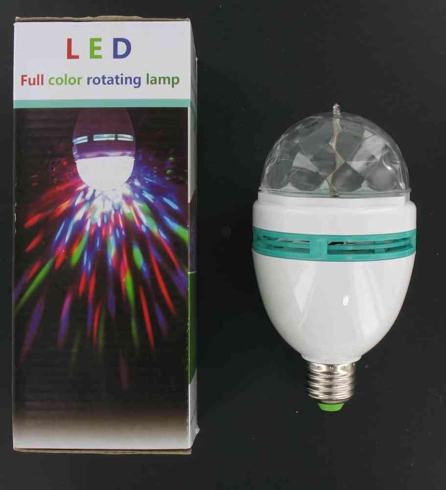 Multi color rgb led lampe e27 rotation 3 watt gro disco led multi color rgb led lampe e27 rotation 3 watt gro disco parisarafo Image collections