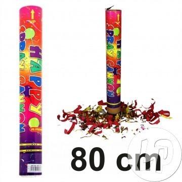 LP Popper Konfetti Bombe 80 cm Reichweite bis zu 15 m Rohrlänge 80cm Confetti