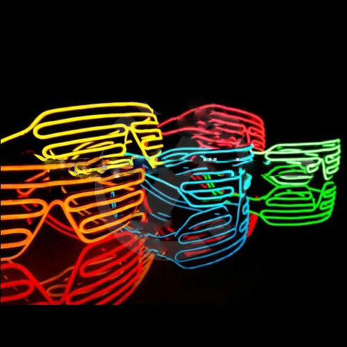 NEU 2017 Party Brille EL Disco SPACE Rave Jal Partybrille SHUTTER glasses sound active electrolum