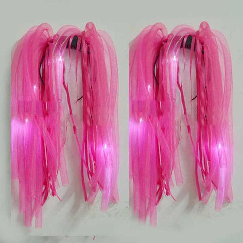 WANA LED Haar Reif Pink Rasta funny hair dreadlocks Haarreifen blink Haarband Rastalocken Fingerfallen