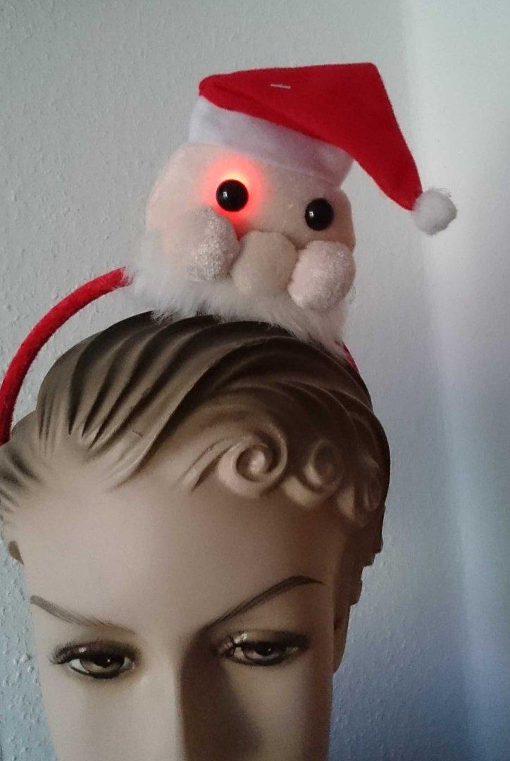 weihnachts muetze weihnachts mini nikolaus haar reif mit. Black Bedroom Furniture Sets. Home Design Ideas