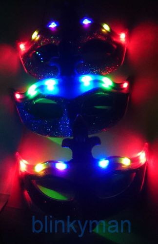 cl LED Maske halloween Karneval party LED Leuchtmaske Venedig mit 6 LEDs RGB MYSTERY Venice
