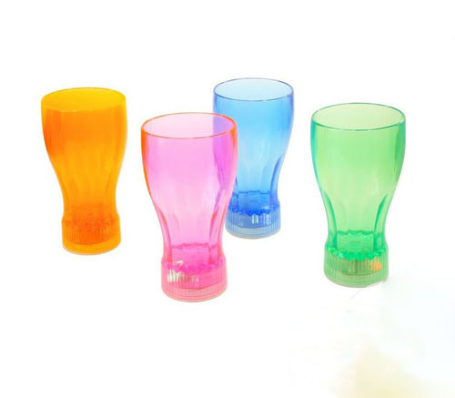 LED BECHER FARBIG bunt Multicolor flashing SODA Cola mug 15 cm 0,33 l 3 Programme
