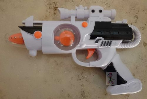 Space Wars LED Pistole Laser Gun Licht Sound Effekten LASER Light turbo kugel twister Fire