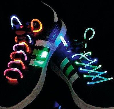 happy home LED BLINK LEUCHT SCHNÜR BAND SENKEL laces Schuhband Schnürsenkel 1 Paar