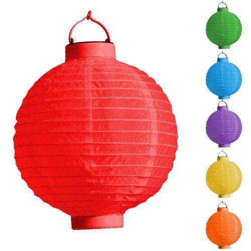 kig LED Lampion Laterne 20 cm Durchmesser mit Batterie AN Aus Schalter 6 Farben