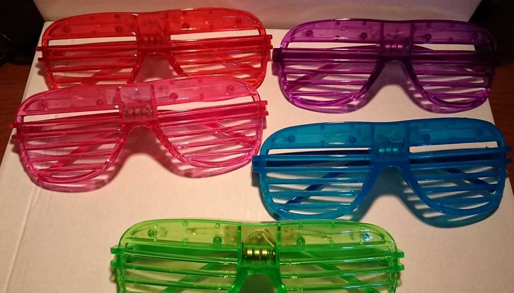 68e91fc77f ILLUMINATED GLASSES LED 1 Program Shutter Shades glasses PINK PURPLE RED  GREEN BLUE