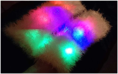 LED Bein Stulpen Beinlinge Farbwechsel Modi Light Up Fluffies Tecno Dance