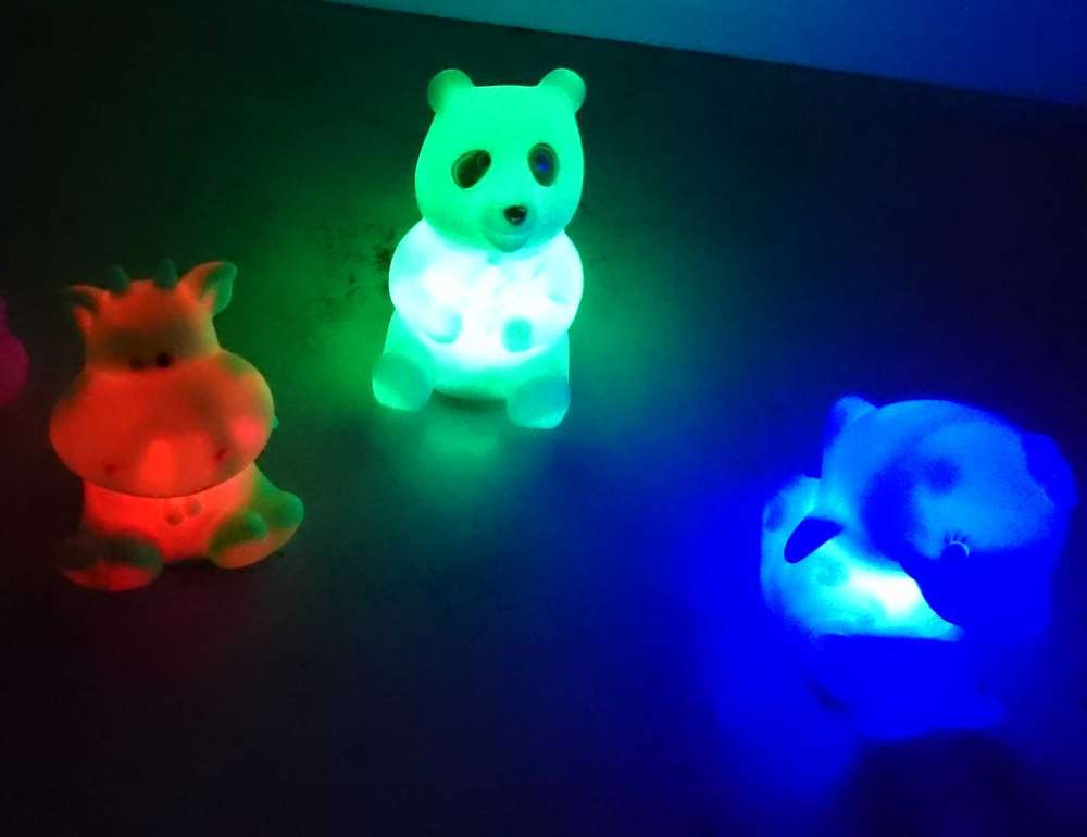 LED Farb Wechsel Figur Lampe color changing multicolor Farbwechse