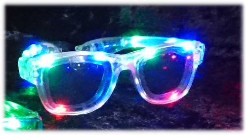NEU 2018 Wayfarer leucht LED Brille Transparent multicolor LEDs RAY Style