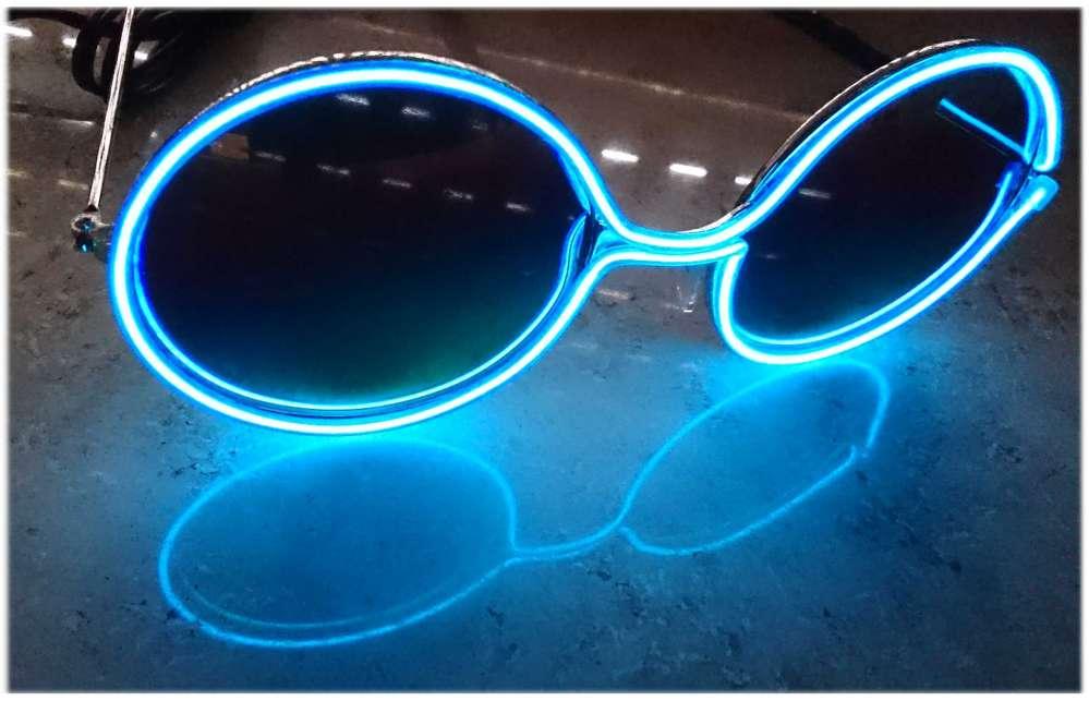 Retro sun glasses EL light-colored party Rainbow sound active 3 l