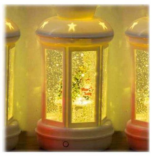 ootb Wunderbare XMAS LED Weihnachts Laterne mit glitzernder Flüssigkeit und Glitzer Lampe