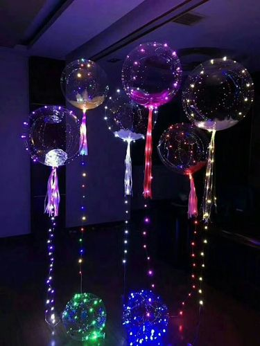 GF LED Bubble Ballon mit Multi Color Kupferdraht Lichterkette Mega Ball
