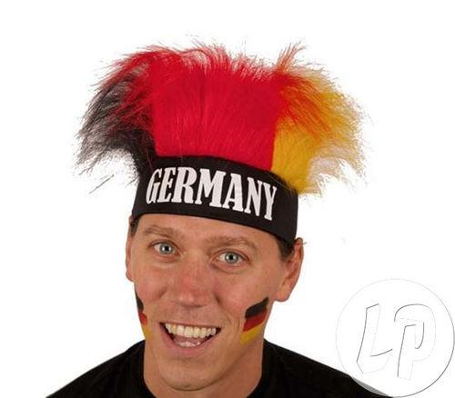 CL PERÜCKE Haare Fasching Karneval breites elastisches Stirnband mit Haaren Farben von Deutschland