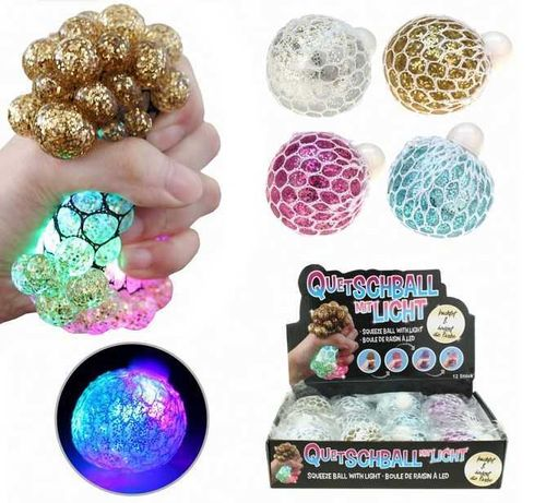 LED Wutball Antistressball Quetschball 6cm Ball Pickelball crazy Eiter ball 7cm