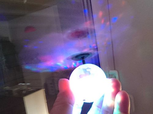 LED Magic Flying Induction Ball Infrarot gesteuert,multicolor,mit 7 LEDs Helicopterball Schwebeball