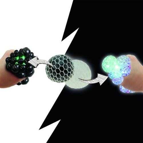 LED Wutball Antistressball Quetschball Ball Pickelball crazy Black + White 7cm