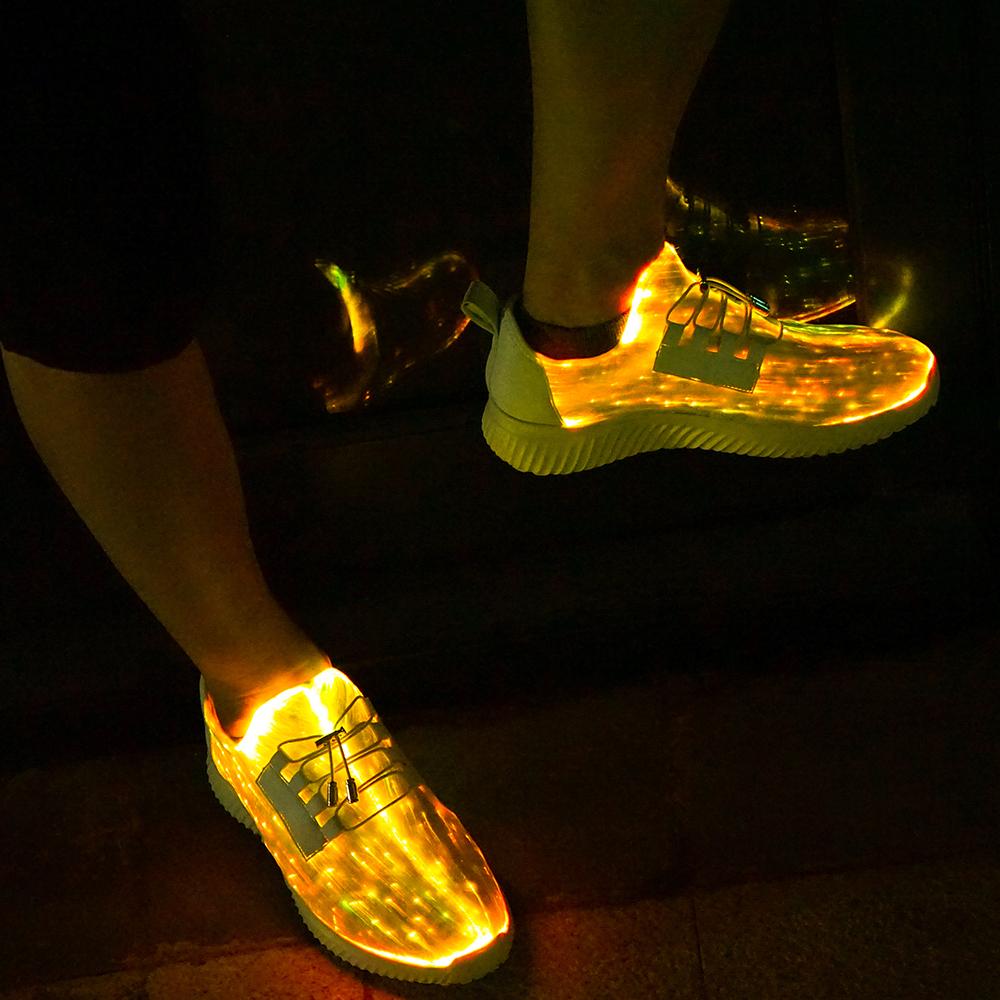 low priced 84826 072ee Luminous RGB LED Glass Fiber Glass Fiber shoes 7 Colors + ...