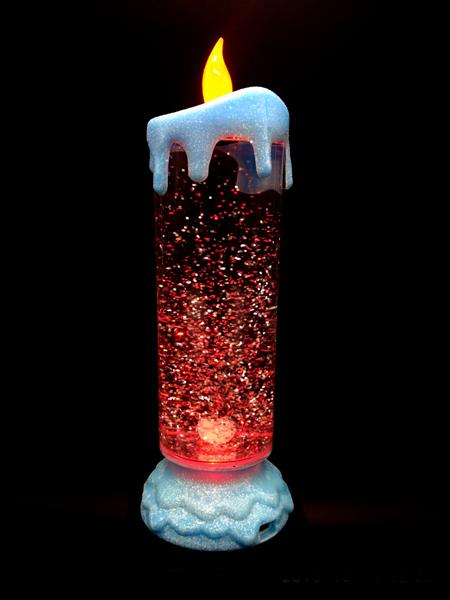 Wonderful Xmas Led Christmas Candle With Glittering Liquid