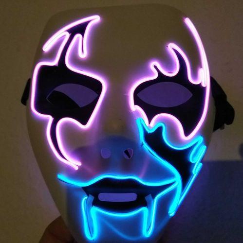 CL Hit der Saison ! Party Leuchtmaske EL MASKE PHANTOM Vampire ElektroLumineszens Schlauch