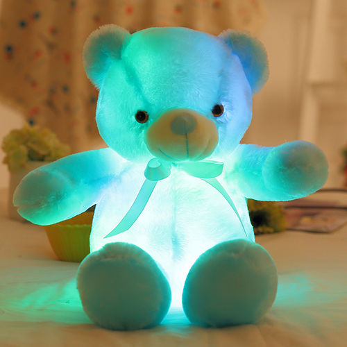 groothandel LED LEUCHT KISSEN farbwechsel Bear Bär Teddi Leuchtkissen kuschelweich 30 cm
